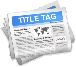 Newspaper with Title Tag
